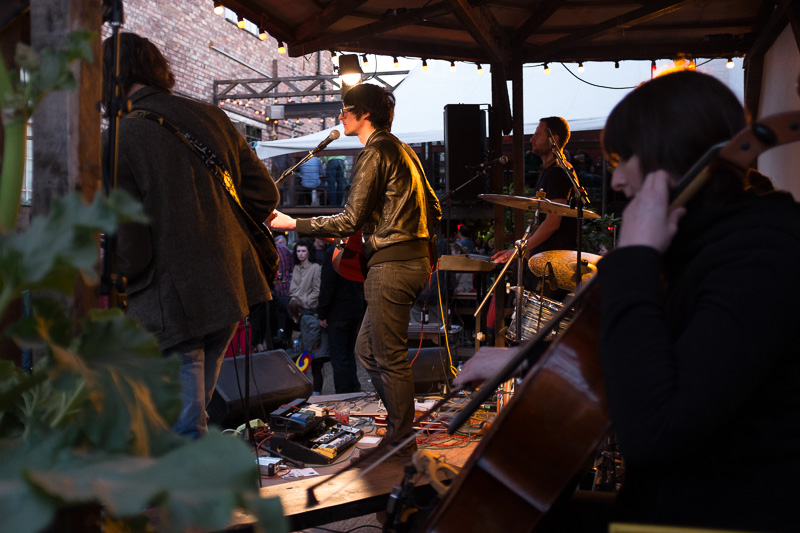Reid Anderson in the Kazimier Gardens  at Liverpool Sound City 2013